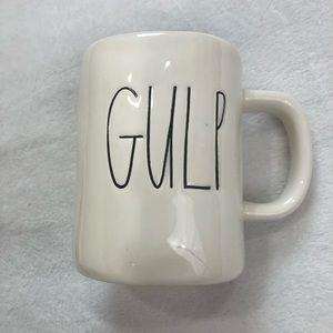 """Rae Dunn """"Gulp"""" Mug Unique Teal Interior"""